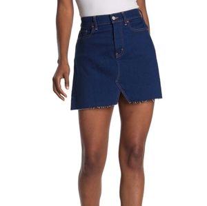 Etica NWT Lucy Raw Hem Denim Skirt